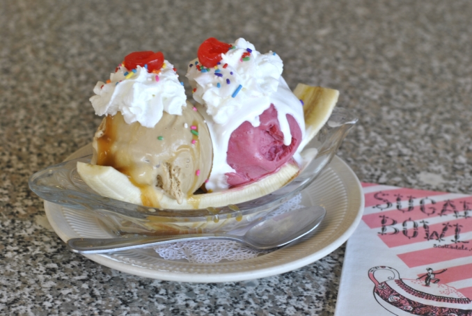 Gosh-Awful-Gooey Banana Split