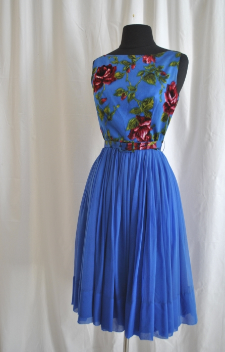 1960s Chiffon Party Dress